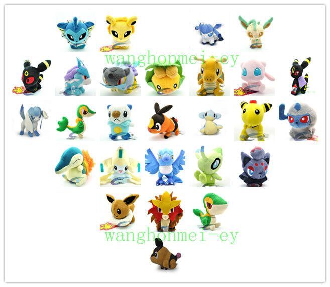 hodgepodge of New pokemon Soft Stuffed Animal Plush toy collection