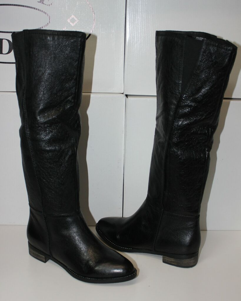steve madden colaterl black leather tall boots new more options