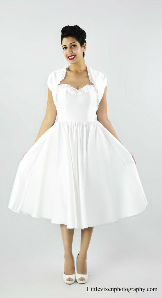 50s vintage inspired pinup rockabilly pinup wedding dress