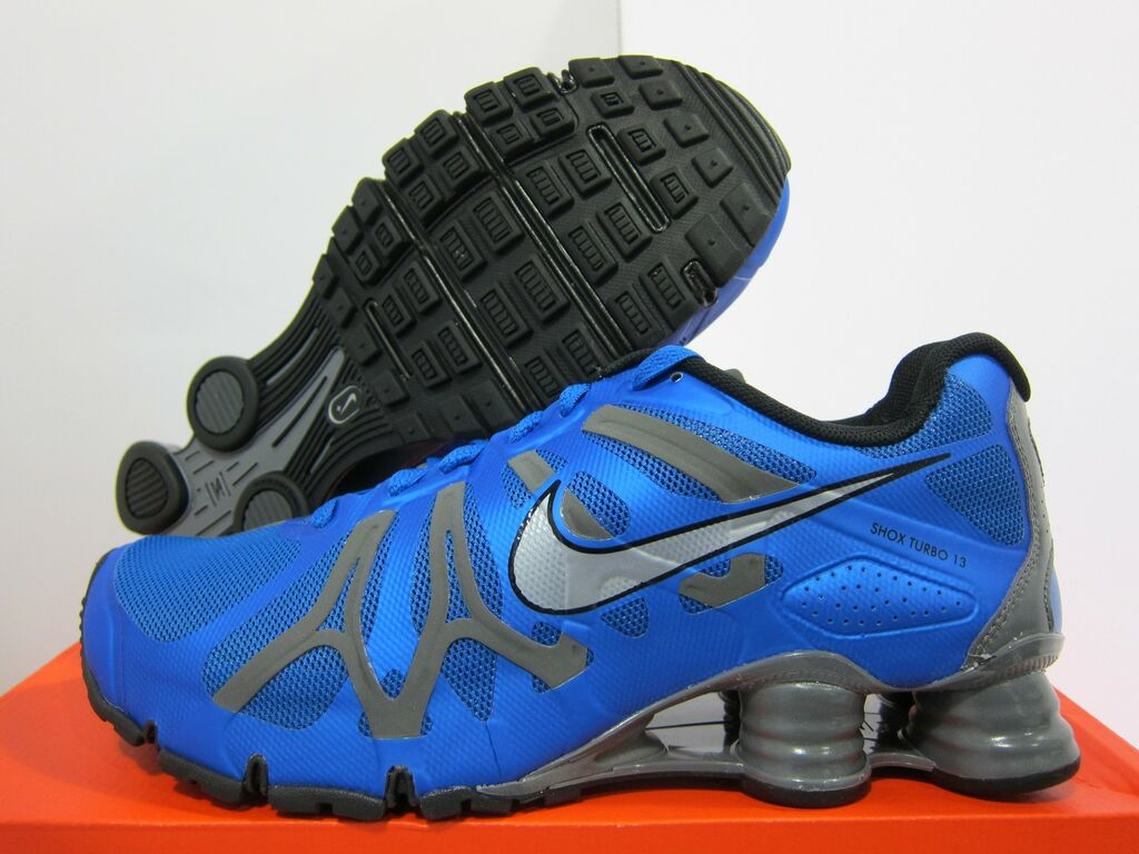 NEW MENS NIKE SHOX TURBO+ 13 RUNNING [525155 400] Signal Blue Met