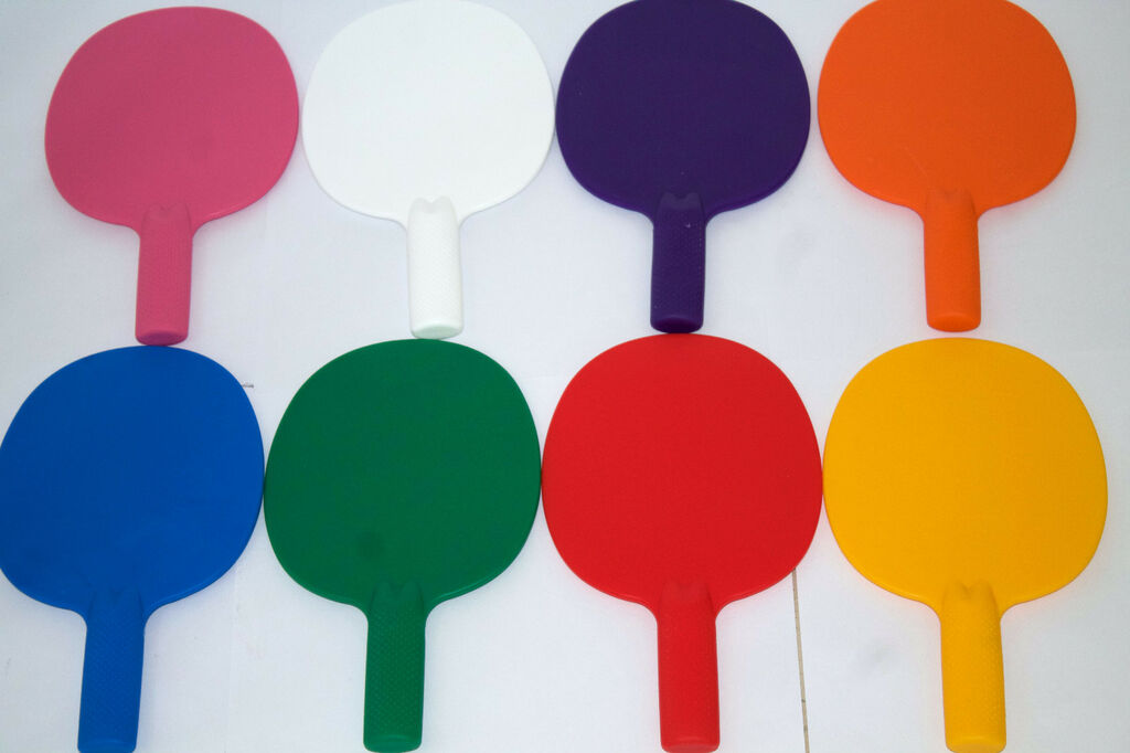2XRobust plastic table tennis bats/ping pong/Auction/Quiz Game paddles