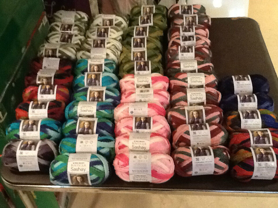 RED HEART BOUTIQUE SASHAY NET YARN MANY FABULOUS COLORS NEW