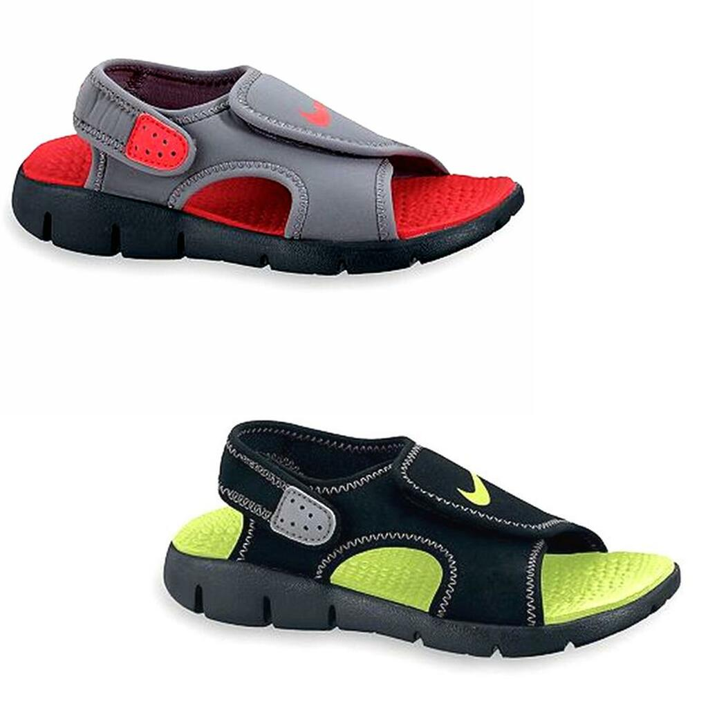 e1a6249a9be2 New Boy Nike Sunray Adjust 4 Sport Sandals Shoes Size 5 6 on PopScreen