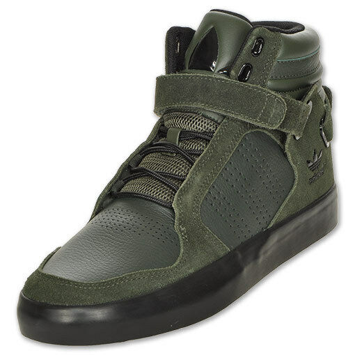 sports shoes 805ed df24c Adidas Adi Rise Mid High Tops GREEN Shoes Originals Hi Trainers Velcro