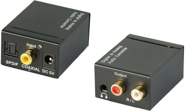 Convertitore da audio digitale ad analogico adattatore coassiale rca icp 