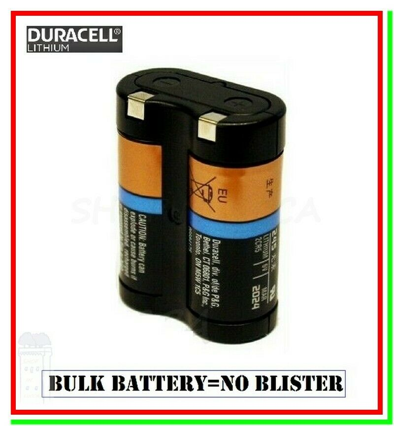 Duracell 245 batteria pila bulk 2cr5 el2cr5 2cr5r scade 2024 foto photo flash 