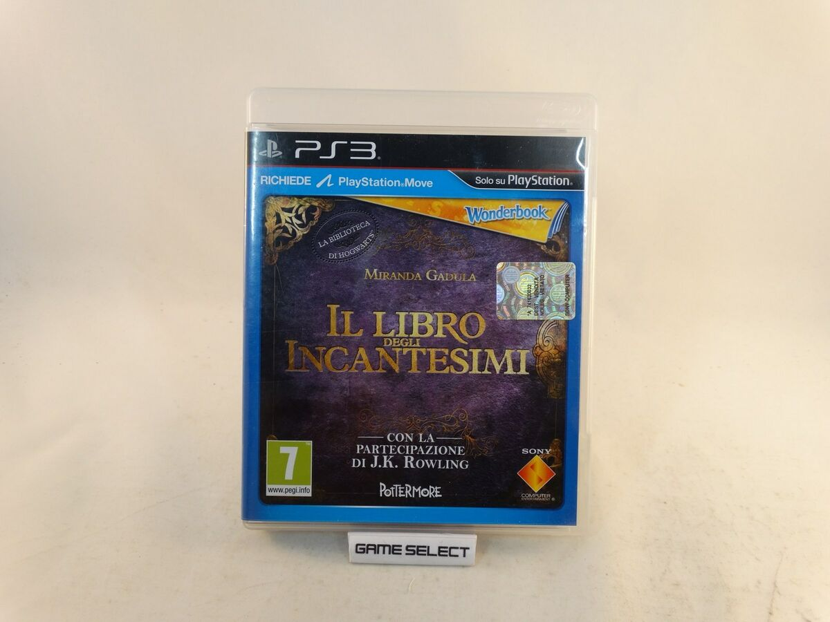 Wonderbook il libro degli incantesimi harry potter ps3 pal ita italiano original 