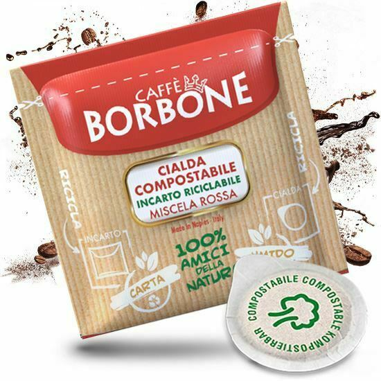 600 cialde filtro carta 44mm caffe borbone miscela rossa originali break shop 