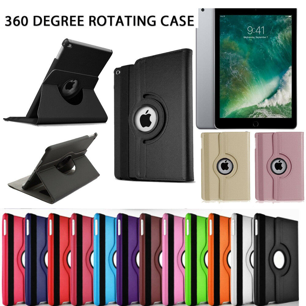 New ipad case 360 rotating stand flip cover for ipad 234 mini air 2017 9 7 10 5 