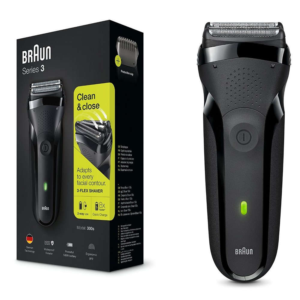 Rasoio elettrico braun trimmer series 3 300s clean close 
