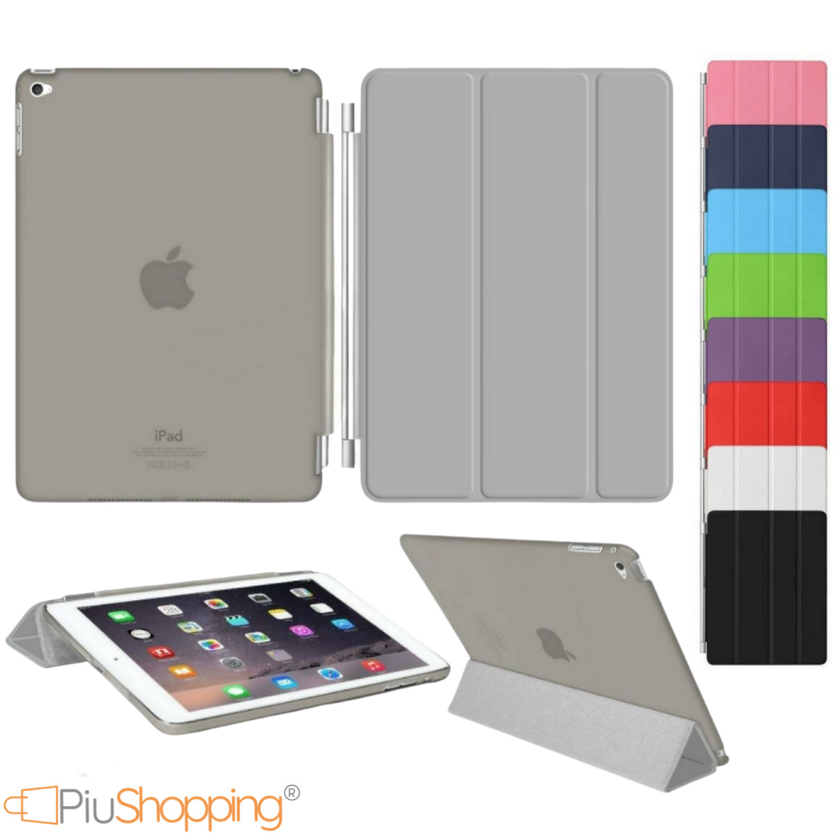Custodia ipad 2 3 4 air 2 mini 4 apple smart cover back case magnetica slim 