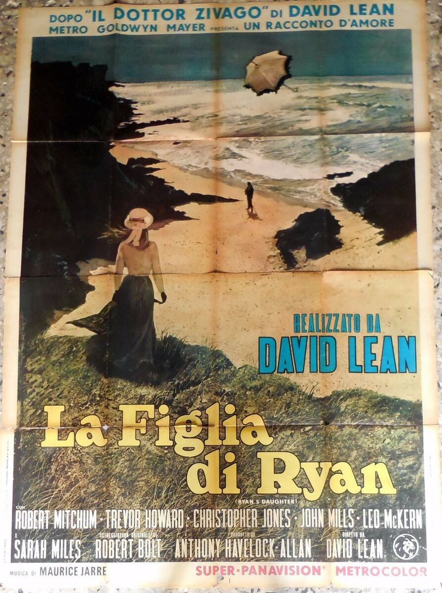 Manifesto movie poster 4f la figlia di ryan david lean mitchum cinema 