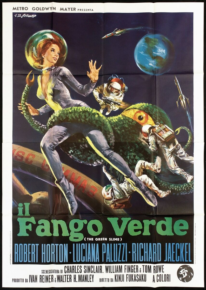 Il fango verde manifesto cinema film sci fi the green slime 1968 movie poster 4f 