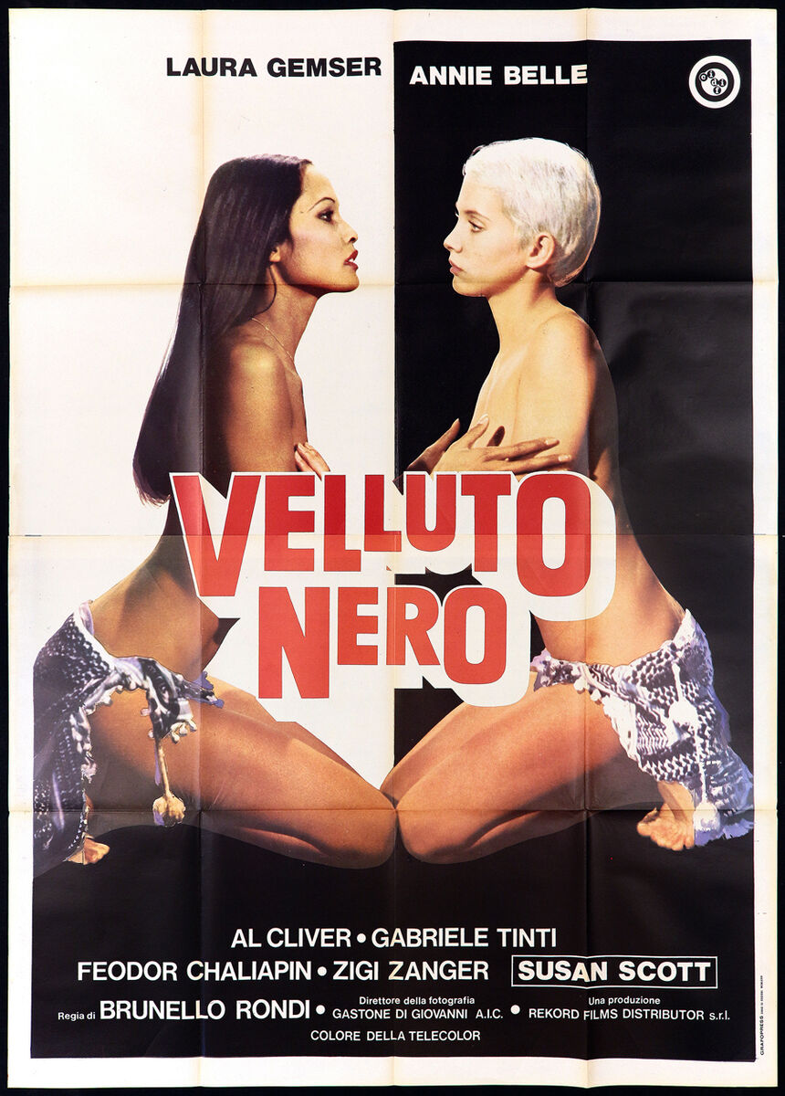 Velluto nero manifesto cinema eros laura gemser annie belle 1976 movie poster 4f 