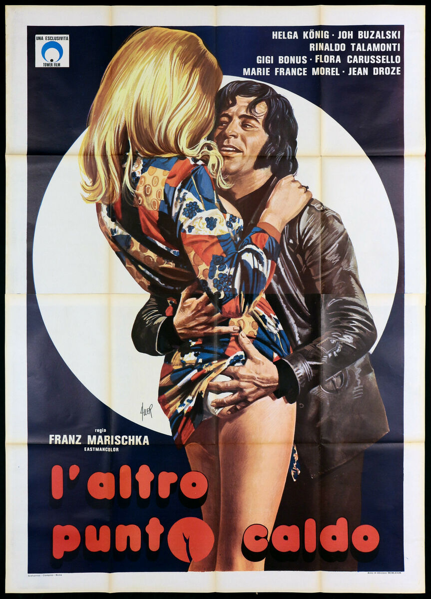 L altro punto caldo manifesto cinema sexy erotico germania 1974 movie poster 4f 