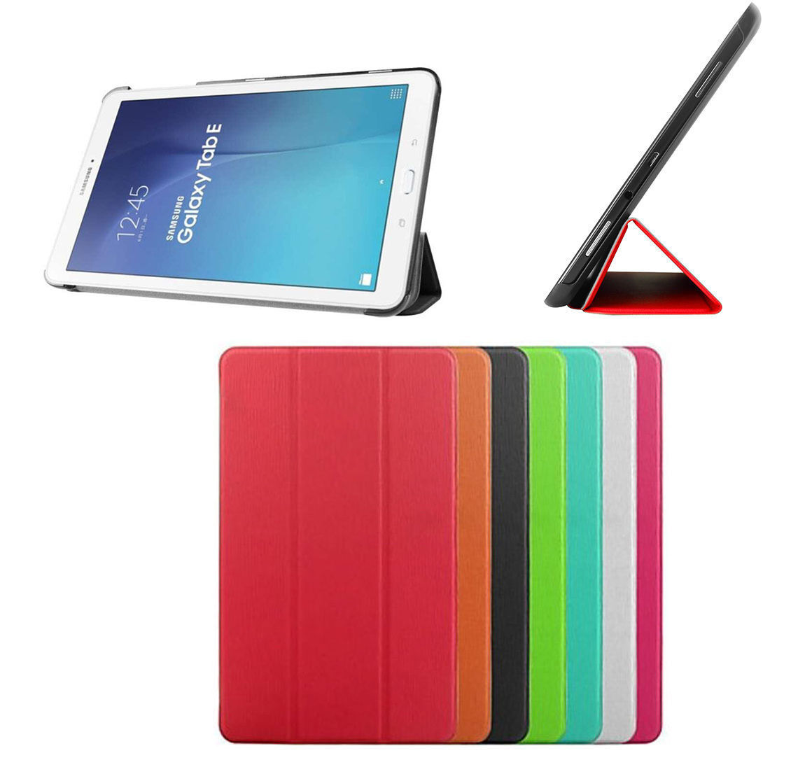 Smart cover per samsung galaxy tab e 9 6 sm t560 sm t561 custodia slim tablet 