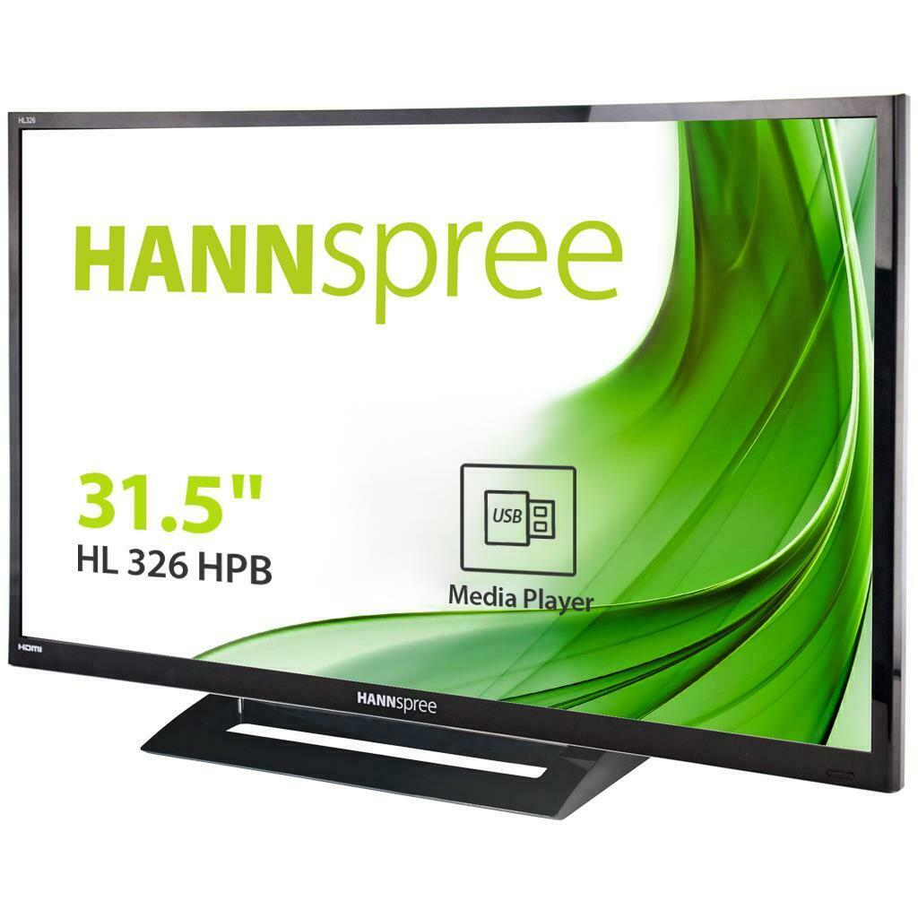 Hannspree hl 326 hpb monitor led 32 ips 16 9 multimediale hl326hpb monitor pc 