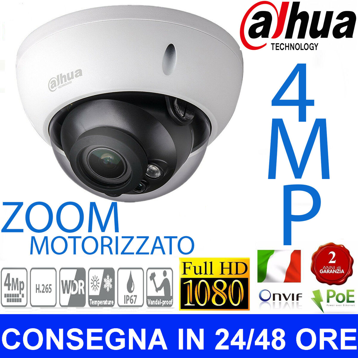 Dahua ip camera poe 4mp hd ipc hdw4431r zs 2 7 12 mm ir mini dome telecamera 