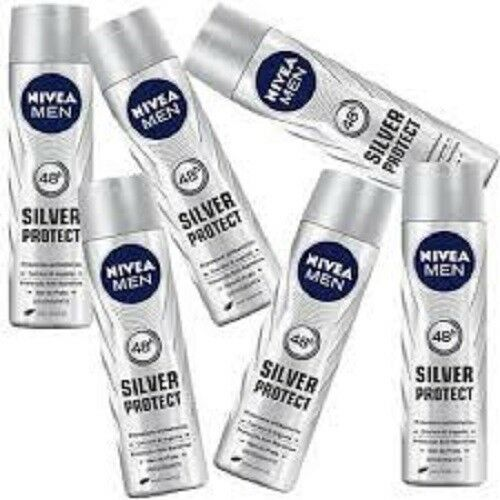 6 x nivea deodorante corpo spray men silver protect offerta in stock uomo 