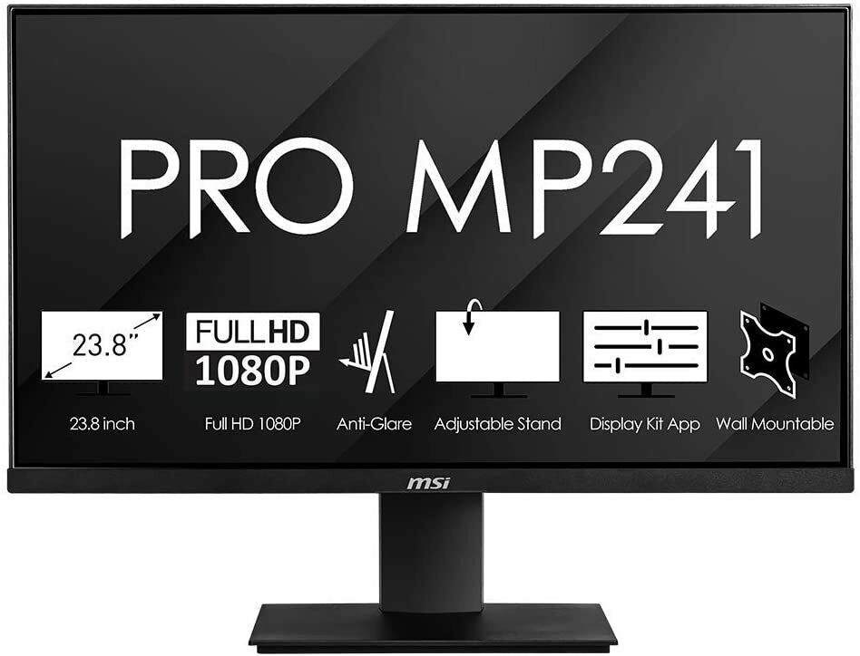 Monitor 24 pollici philips gaming led full hd per pc fisso hdmi dvi vga 