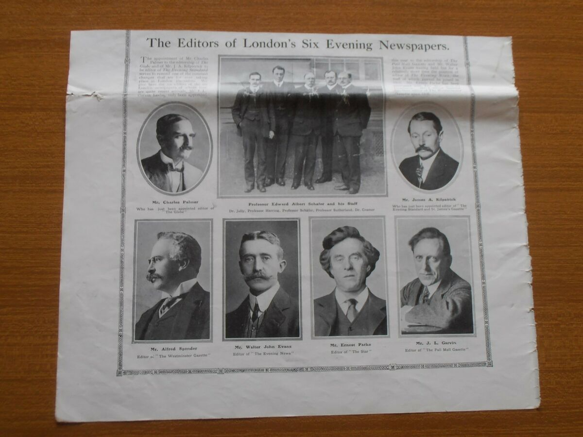 1912 the editors of london six evening newspapers globe star pall mall gazette 