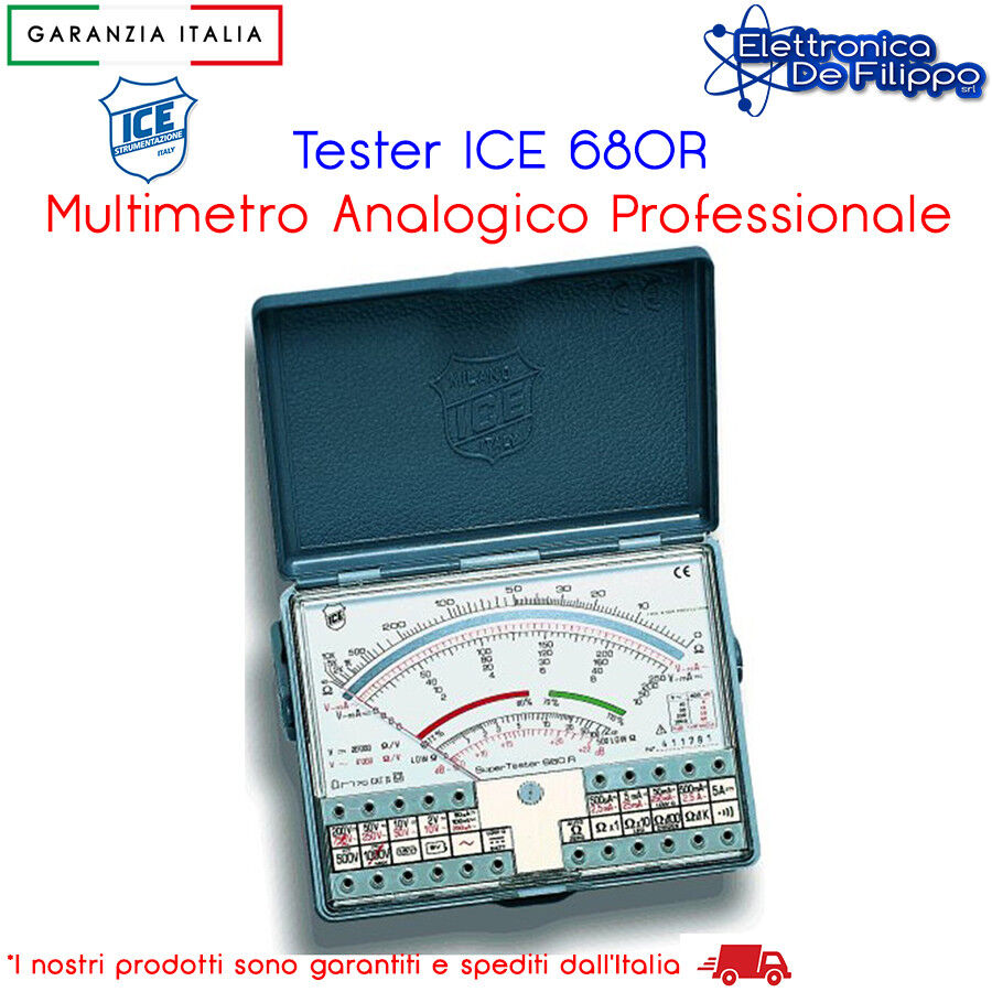 Tester multimetro analogico ice 680r professionale galvanometro 