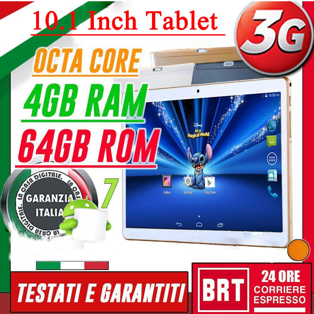 Tablet 10 1 ips 3g octa core 2 0ghz 4gb ram 64gb rom android 7 tablet ty 