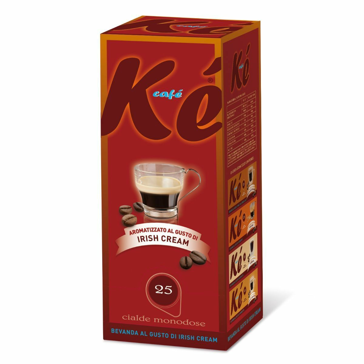 75 cialde caffe ke cafe molinari miscela irish cream ese 44 mm 