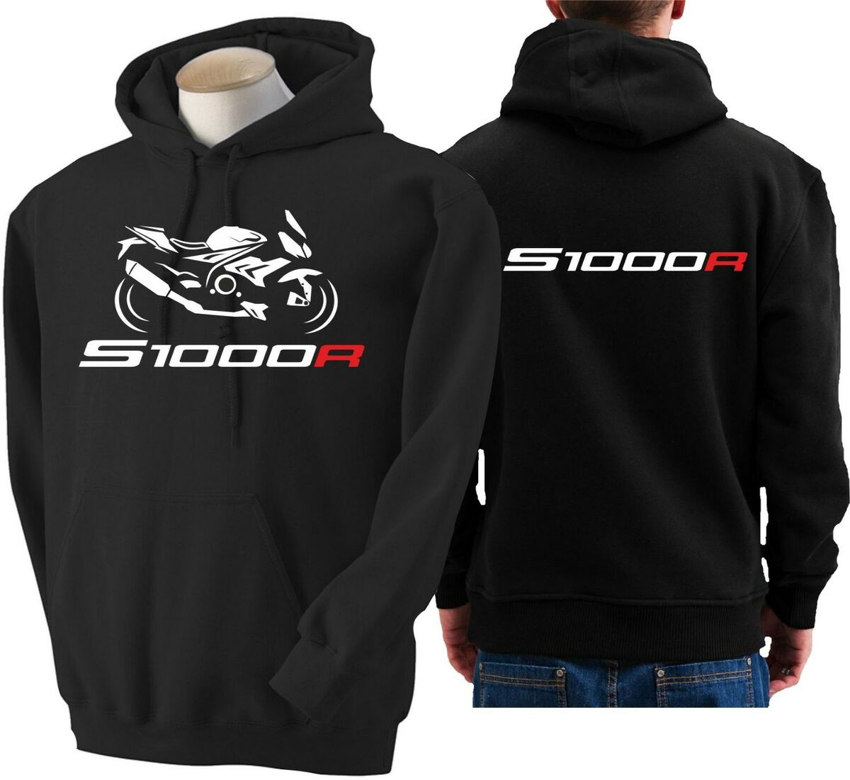 Felpa per moto bmw s1000r hoodie sweatshirt bike s 1000 r hoody hooded sweater 