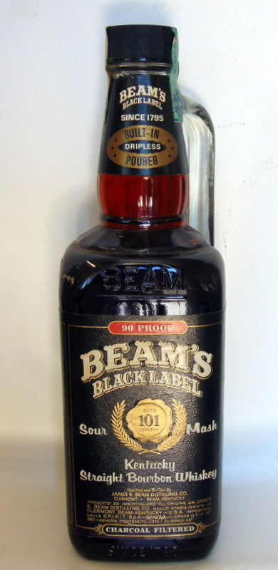 Whisky beam s black label aged 101 mounth sour mash kentucky straight bourbon 