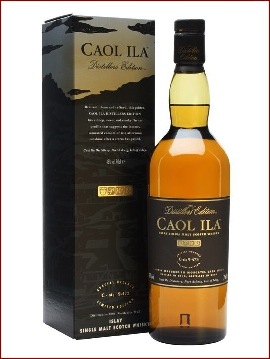 Whisky caol ila distillers edition 2001 bott 2013 special release moscatel cask 