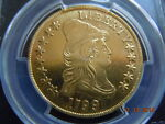 1799 DRAPED BUST 10.00 GOLD EAGLE PCGS AU DETAILS  LOOKS MINT STATE