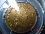 1799 DRAPED BUST 10.00 GOLD EAGLE PCGS XF DETAILS  LOOKS MINT STATE