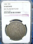 1842 SEATED LIBERTY SILVER $1 DOLLAR VF DETAILS NGC