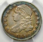 PCGS XF40 1814 LARGE DATE CAPPED BUST DIME