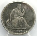 1837 10C SEATED LIBERTY DIME NO STARS SMALL DATE   PCGS GRADED VF20