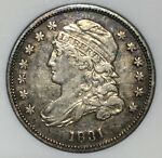 1831 CAPPED BUST DIME JR 5  ANACS EF45 XF COLORFUL TONING   3 DAY RETURNS