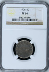 1906 5C PR64 NGC | LIBERTY | V NICKEL 5 C | PROOF | BIN  SKU.CC
