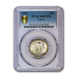 1917 STANDING LIBERTY QUARTER TYPE II MS 67 PCGS  FH    SKU169550