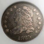 1825 CAPPED BUST DIME JR 2 ANACS VF30 NICE