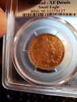 1795 DRAPED BUST 5.00 GOLD HALF EAGLE PCGS GRADED XF DETAILS 1ST YEAR GOLD
