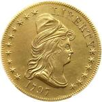 1797 DRAPED BUST10.00 EAGLE GOLD COIN NGC GRADED AU DETAILS BD 4 HIGH R 4