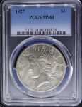 1927 PEACE SILVER DOLLAR PCGS CERTIFIED MS 61 MINT STATE 826