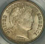 1911 S BARBER DIME PCGS MS64