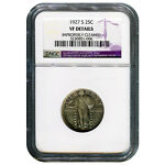 CERTIFIED STANDING LIBERTY QUARTER 1927 S VF DETAILS IMPROPERLY CLEANED NGC