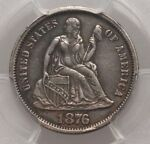 1876 CC LIBERTY SEATED DIME PCGS XF45 CARSON CITY TYPE COIN LY FINE