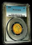 1895 5 DOLLAR LIBERTY HEAD US GOLD COIN PCGS XF40