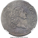 1794 FLOWING HAIR SILVER DOLLAR  NGC VF B 1 BB 1 R 4  COIN & GREAT DETAILS
