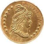 1805 DRAPED BUST 5.00 GOLD HALF EAGLE NGC UNC DETAILS 213YRS OLD