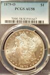 1879 O MORGAN SILVER DOLLAR   PCGS AU58   GREAT LOOKING BETTER DATE COIN.